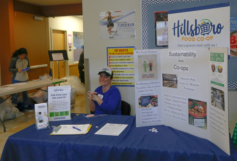 Hillsboro Food Coop table